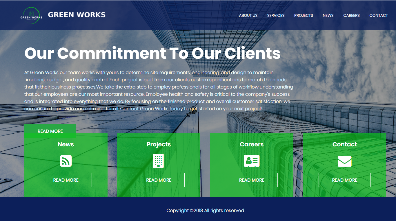 Green Works Projects is a full service general contracting, engineering, design and construction management company