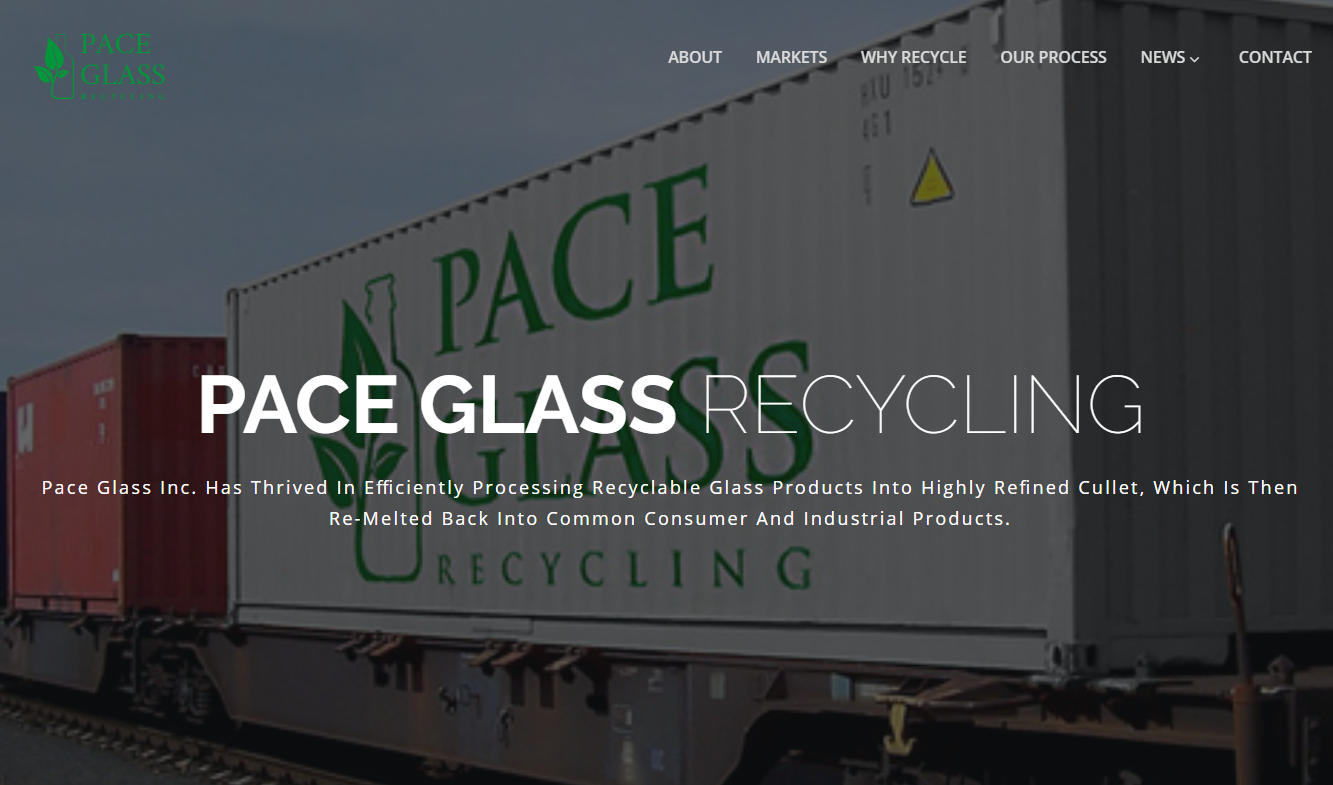 Pace Glass Inc. Has Thrived In Efficiently Processing Recyclable Glass Products Into Highly Refined Cullet, Which Is Then Re-Melted Back Into Common Consumer And Industrial Products